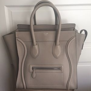 Celine Mini Luggage in Dune Bag